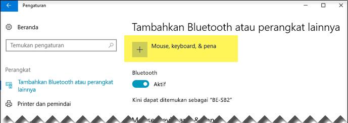 Tambahkan perangkat Bluetooth
