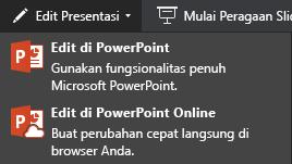 Mengedit di PowerPoint Online