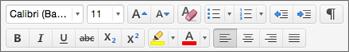 Tombol pemformatan di Outlook untuk Mac