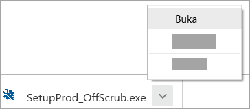 Tempat menemukan dan membuka file unduhan Asisten Dukungan di browser web Chrome