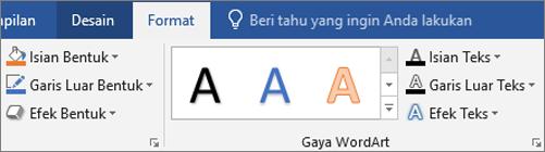 Klik tab Format