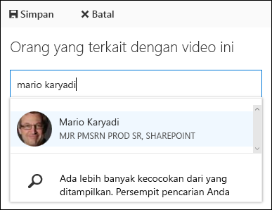 Orang-orang Asosiasi Video Office 365