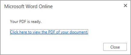 print word to pdf online