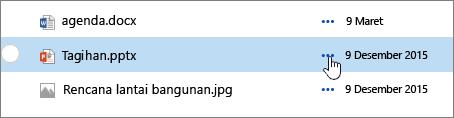 Nama file yang disorot di pustaka dokumen
