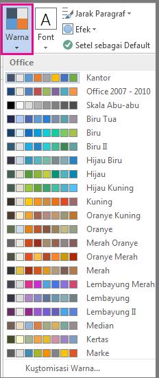 Galeri warna tema