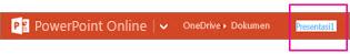 Mengganti nama file Anda pada Bilah Atas oranye