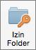 Tombol Izin Folder Outlook 2016 untuk Mac