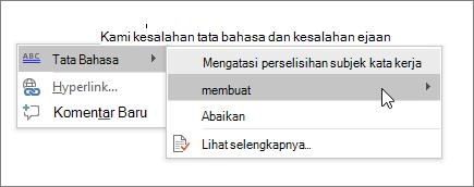 Contoh Ejaan & Tata Bahasa Office 365