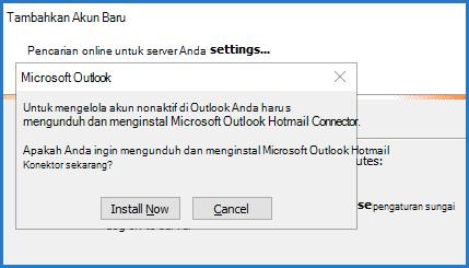 Perintah Konektor Hotmail Outlook