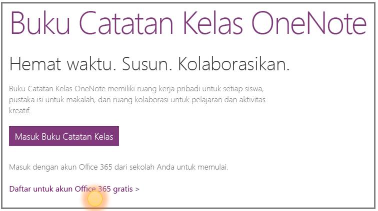 Cuplikan layar tentang cara mendapatkan akun Office 365 gratis.
