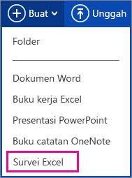 Membuat survei Excel