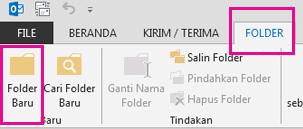 Pada tab Folder, klik Folder Baru.