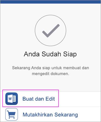 Ketuk Buat dan Edit untuk mulai menggunakan aplikasi tersebut.