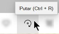 Tombol putar pada Toolbar aplikasi foto.