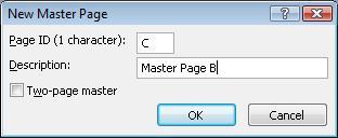 Dialog Tambahkan Halaman Master Publisher
