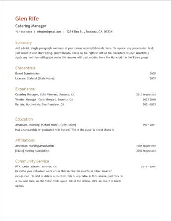 Templat resume