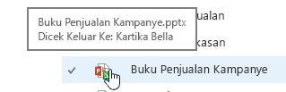 muncul ketika Anda mengarahkan mouse ke atas ikon dokumen