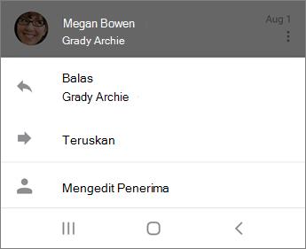 Membalas email di Outlook Mobile
