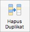Menghapus tombol duplikat