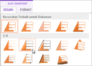 Menerapkan gaya SmartArt