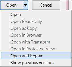Buka dan Perbaiki