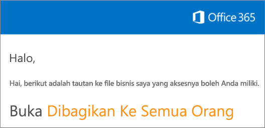Buka email dan klik Buka situs web.