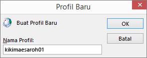 Profil email Outlook baru sedang disiapkan untuk kerimills