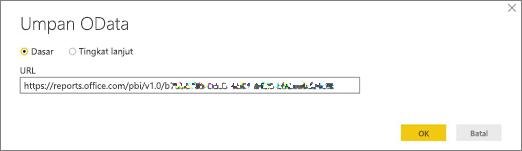 URL umpan OData untuk Power BI desktop
