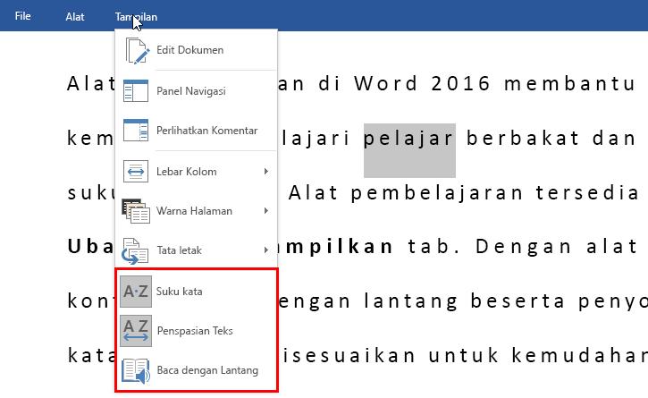 Alat Pembelajaran Word