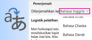 Penerjemah Outlook untuk Mac