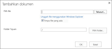 Mengunggah dengan Windows Explorer