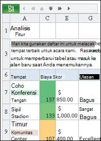 Mobile Viewer untuk Excel