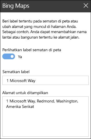 Peta Bing kotak alat komponen Web