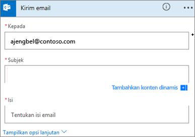 Cuplikan layar: Pilih subjek