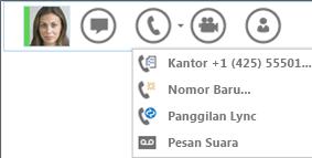 Cuplikan layar melakukan penggilan