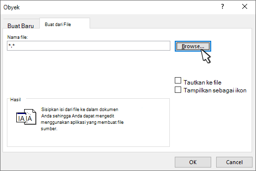 Buat dari panel file