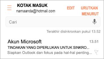 """Buka email yang bertuliskan """"Tindakan diperlukan"""""""