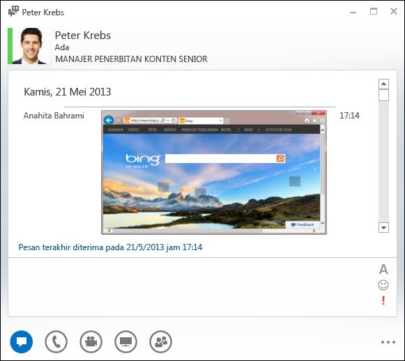 Cuplikan layar Gambar sejajar