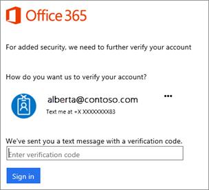 Saat masuk dengan verifikasi 2 langkah, Anda akan diminta untuk memasukkan kode.