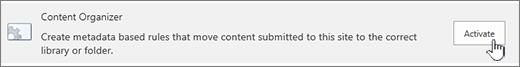 tombol Aktifkan konten organzier