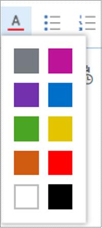 Menyesuaikan warna font di Outlook di web.