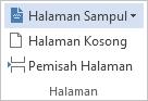 Pada tab SISIPKAN, klik Halaman Sampul.