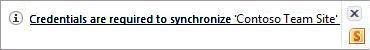 Peringatan sinkronisasi di area pemberitahuan Windows.