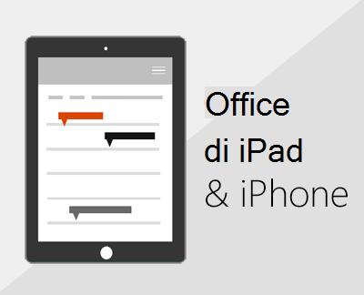 Klik untuk menyiapkan aplikasi Office di iOS