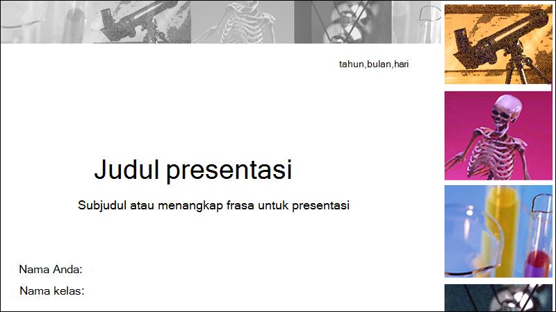 Cuplikan layar sampul Templat laporan schience