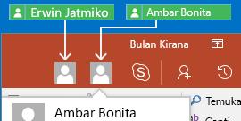 Bekerja sama secara real-time PowerPoint untuk Android