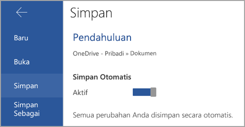 Simpanotomatis di Android