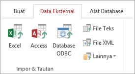 Tab Data eksternal akses'