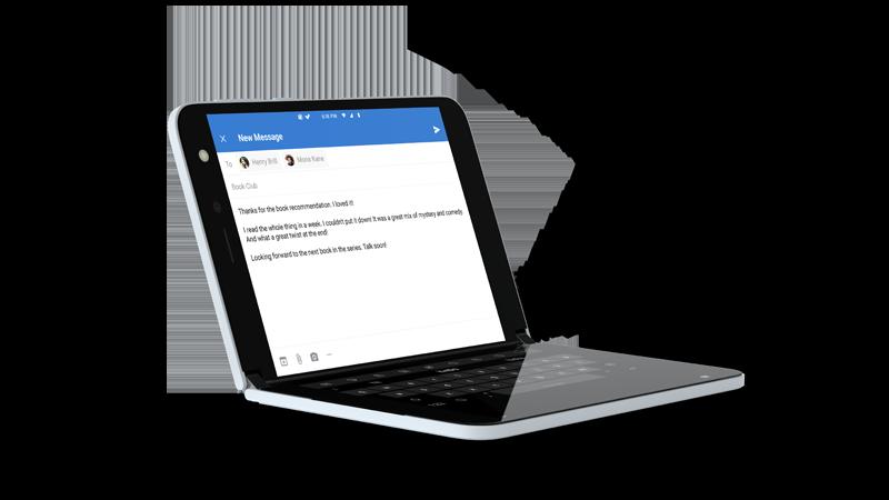 Surface Duo menggunakan Outlook