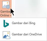 Menu menurun Gambar Online